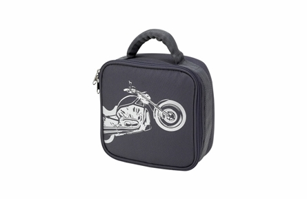 Four Peas Gray Biker School Backpack