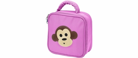 Four Peas Pink Monkey Duffle Bag