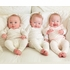 Four-Piece Layette Set in Flutter Pink