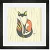 Fox Frills Framed Art Print