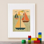 Framed By Sea Art Print on Wood