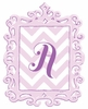 Lavender Framed Chevron Monogram Wall Decal