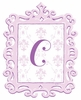 Lavender Framed Damask Monogram Wall Decal