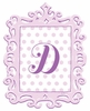 Lavender Framed Dotted Monogram Wall Decal
