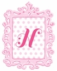 Pink Framed Dotted Monogram Wall Decal