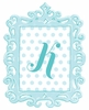 Turquoise Framed Dotted Monogram Wall Decal