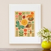 Framed Garden Parade Print on Wood
