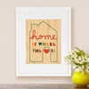 Framed Home Art Print on Wood