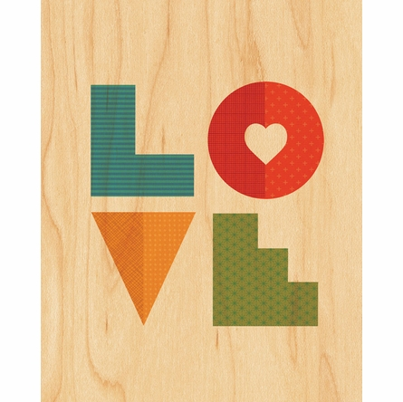Framed Love Art Print on Wood