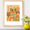 Framed Paris Art Print on Wood
