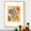 Framed Reading Elephant Art Print on Wood