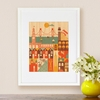Framed San Francisco Print on Wood