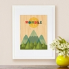 Framed Wonder Art Print on Wood