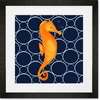Fred the Seahorse Framed Art Print