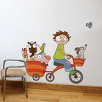 Free Wheel Wall Decal