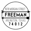 Freeman Personalized Self-Inking Stamp