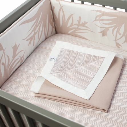 Freesia Crib Bumper in Blush