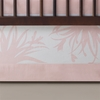On Sale Freesia Patterned Crib Skirt in Blush