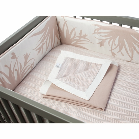 Freesia Three-Piece Crib Set in Blush