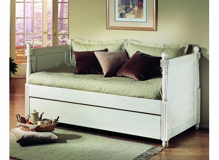 French Twin Day Bed with Pop-Up Trundle