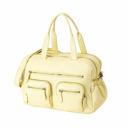 French Vanilla Faux Lizard Carry All Diaper Bag