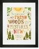 Fresh Woods and Pastures Framed Art Print