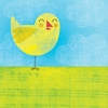 Friendly Baby Chick Canvas Wall Art