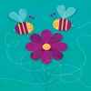 Friendly Bees Canvas Wall Art
