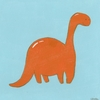 Friendly Brontosaurus Canvas Reproduction