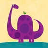 Friendly Dinosaur Canvas Wall Art