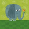 Friendly Elephant Canvas Wall Art