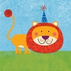 Friendly Lion Canvas Wall Art