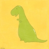 Friendly T-Rex Canvas Reproduction