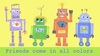Friends Come in All Colors Robots Canvas Reproduction