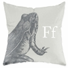 Frog in Warm Grey Throw Pillow