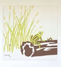 Frog Organic Cotton Wall Print