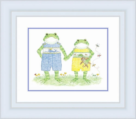 Froggy Brothers Framed Lithograph