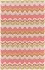 Frontier Bold Chevron Rug in Coral