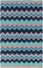 Frontier Bold Chevron Rug in Teal
