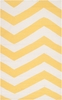 Frontier Chevron Flat Weave Rug in Lemon