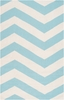 Frontier Chevron Flat Weave Rug in Mint