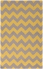 Frontier Chevron Flat Weave Rug in Olive and Mustard