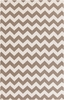 Frontier Chevron Flat Weave Rug in Taupe