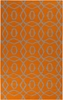 Frontier Circles Flat Weave Rug in Orange