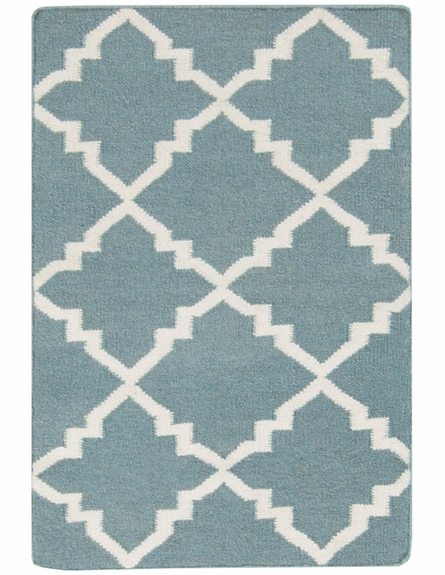 Frontier Diamonds Flat Weave Rug in Moss