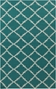Frontier Diamonds Flat Weave Rug in Teal