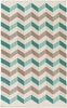 Frontier Double Chevron Rug in Teal