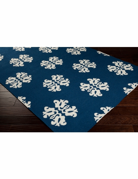 Frontier Flourish Flat Weave Rug in Blue