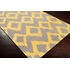 Frontier Ikat Flat Weave Rug in Lemon