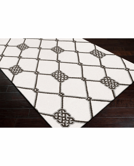 Frontier Knots Flat Weave Rug in Ivory